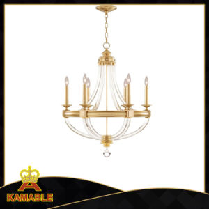 Manufacturer Living Room Brass Glass Chandelie (KA9010-6) pictures & photos
