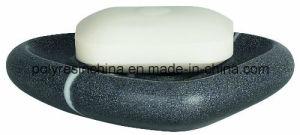 Spirella Etna Stone Soap Dish of Polyresin Black White Stone Effect pictures & photos