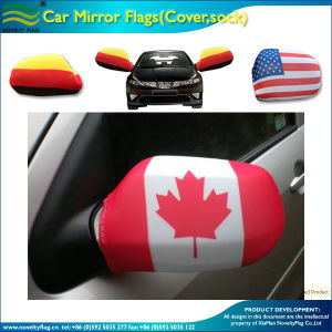 Spandex Knitted Polyester Red Leaf Canada Car Mirror Socks (J-NF13F14023) pictures & photos
