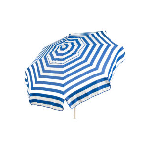 Italian 6′ Stripe Sun Umbrella W/Beach Pole in Choice of Color