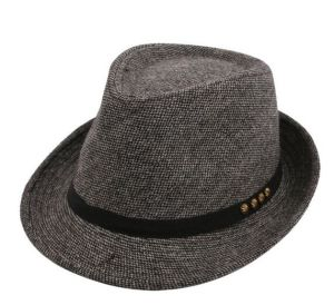 Cotton Gangster Cap Decorated Fedora Hats pictures & photos