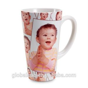 Good Quality V Shape Coffee Mugs with Sublimation Blanks pictures & photos