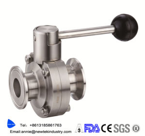 Sanitary Triclover Compatiable Pull Handle Butterfly Valve pictures & photos