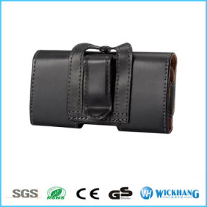 Horizontal Glossy Leather Belt Clip Holster Universal Pouch Phone Case pictures & photos