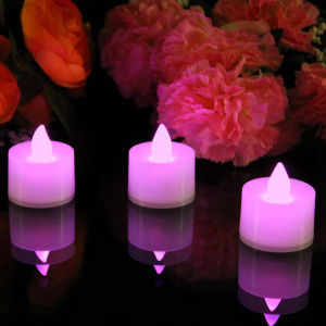 Pink Color LED Tealight Battery Operated Candles in Gift Box pictures & photos