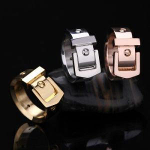 Popular Couples Jewelry Stainless Steel Belt Buckle Fashion Ring pictures & photos