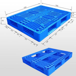 High Quality Cheap Euro Typerubber Anti-Slip Plastic Pallets pictures & photos