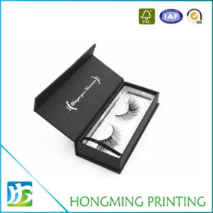 Luxury Custom Logo Black Cardboard Eyelash Packaging pictures & photos