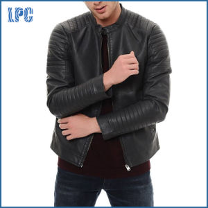 Slim Fit Leisure Winter Mens PU Leather Jacket pictures & photos