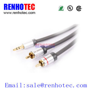 3.5mm to RCA Cable for Audio Speakers pictures & photos