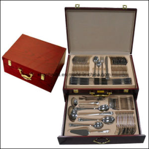 Silver 84PCS Stainless Steel Cutlery Set pictures & photos