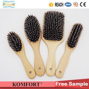 Fsc Wooden Beard Paddle Cushion Boar Bristle Hair Brush (JMHF-127) pictures & photos
