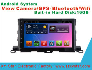 Android System DVD GPS Car Video for Highlander 10.1 Inch Touch Screen with WiFi/Bluetooth/TV pictures & photos