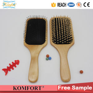Fsc Wooden Beard Paddle Cushion Boar Bristle Hair Brush (JMHF-127) pictures & photos