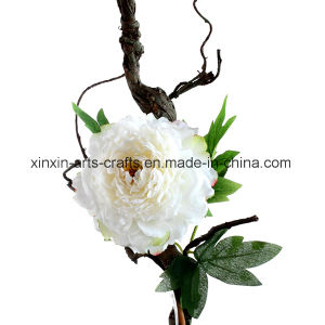 Factory Wholesale Fake Peony Artificial Flowers with Decorative Cirrus