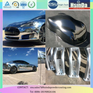 High Gloss Mirror Effect Chrome Polyester Nickel Powder Coating for Car pictures & photos