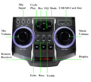 Feiyang Portable Bluetooth DJ Speaker E242 with LED Light pictures & photos
