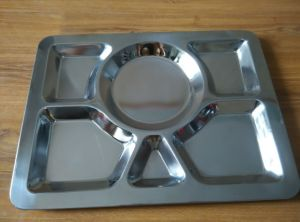 Stainless Steel Lunch Tray Restaurant Use Fast Food Tray pictures & photos