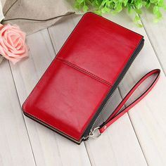 Women Fashion Leather Zipper Clutch Wallet Female Candy Color Burglar Robbed Purse Lady Multi-Function Phone Bag (BDMC037) pictures & photos