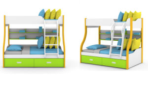 Double Bunk Bed for Kids Bedroom (Wright) pictures & photos