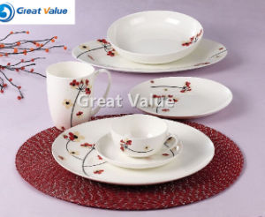 20PCS Coupe Shape Porcelain Chines Pattern Dinner Set pictures & photos