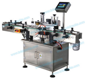 Double Sides Labelling Machine Round Flat Bottle Labeling Machine (LB-100A) pictures & photos