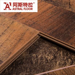 V-Groove 12mm Dark Color with 2mm EVA Laminate Flooring pictures & photos