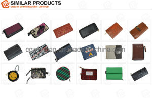 Qulited Soft Split Leather Made High Quality Wallet/Clutch/Purse pictures & photos