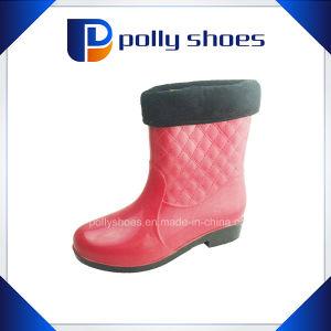 Hot Sale Fashion Women PVC Plastic Rain Shoes pictures & photos