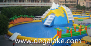 Popular Inflatable Snow Mountain Water Park for Amusement
