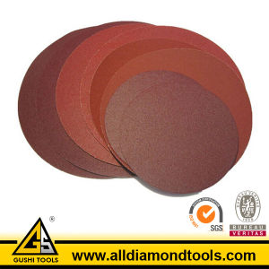 Aluminum Oxide & Silicon Carbide Magic Tape Sanding Disc pictures & photos