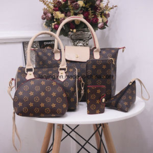 Wholesale-Leading-Supplier Women′s Leather Bag 1/2/3/4/5/6-Sets Fashion Ladies Tote Bag Handbags pictures & photos
