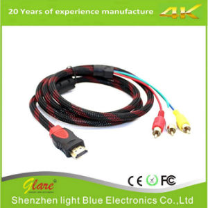HDMI Male to 3RCA Male Extension Cable pictures & photos