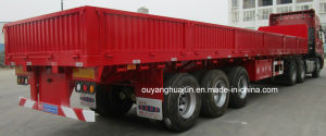 11.5 Meters Flatbed Semitrailer with Side Wall pictures & photos