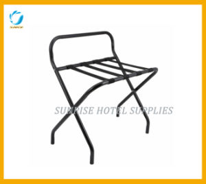 Folding Stainless Steel Luggage Rack with Back Bar pictures & photos