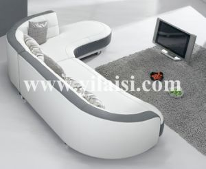 Corner Leather Sofa (902)