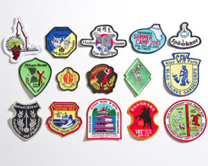 A01 Embroidered Badges with Merrowed Border pictures & photos