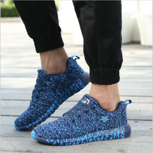 2017 New Running Shoes Light Weight Breathable Flyknit Sports Sneakers Zapato pictures & photos