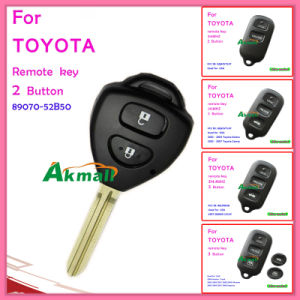 Car Remote Key for Toyota Corolla with 2 Button 89070-52b50 pictures & photos