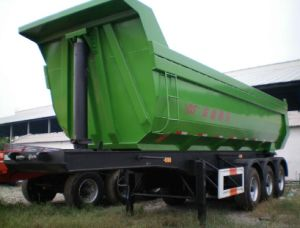 25cbm Dumping Semi Trailer with Hyva Cylinder pictures & photos
