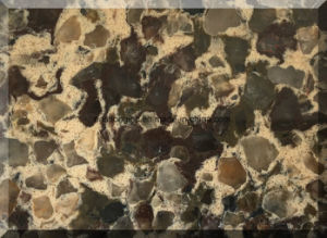 Double Colors Quartz Stone Slab for Vanity Top/ Counter Top/ Island pictures & photos