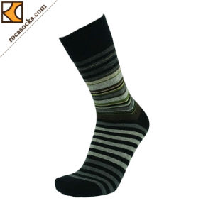 Men′s Spring Striped Dress Cotton Socks (163017SK) pictures & photos