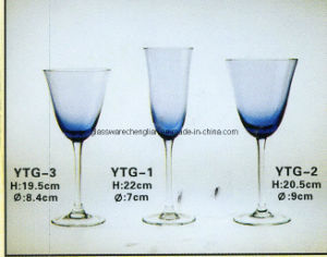 Solid Bllue Color Glassware Set pictures & photos