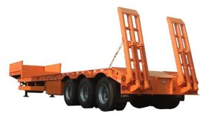 Cimc Lowbed Semi Trailer Truck Chassis pictures & photos
