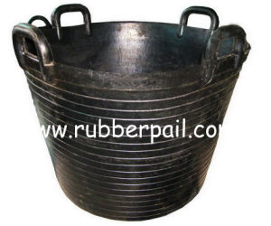 Rubber Bucket Tank. Rubber Barrel, Heavy Duty Rubber Pail, Construction Tool (50L)