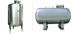 Stainless Steel Horizontal/Vertical Storage Tank for Fluid Liquid pictures & photos