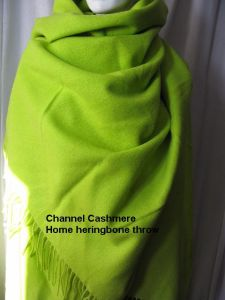 Cashmere Home Throw Heringbone pictures & photos