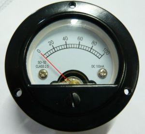 Analog Panel Meter SO- 52 100mA