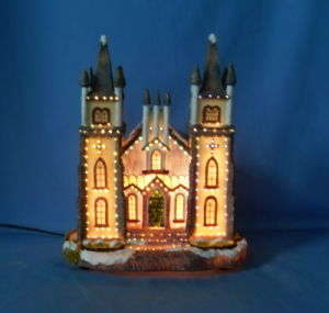 "9""Fiber Optic Church.  (11016)"