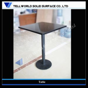 Restaurant Furniture Acrylic Solid Surface Black Dining Tables Set pictures & photos